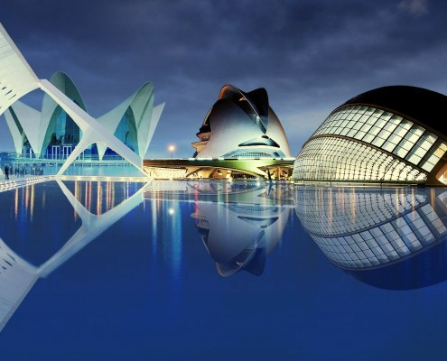 City of Arts and Sciences at Hotel Sorolla Centro in Valencia, Spain