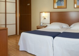 Single double use room at Hotel Sorolla Centro in Valencia, Spain