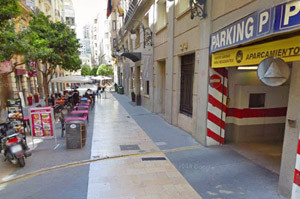 Parking at Hotel Sorolla Centro in Valencia, Spain