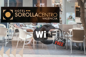 Free WiFi at Hotel Sorolla Centro in Valencia, Spain