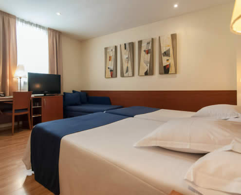 Double room at Hotel Sorolla Centro in Valencia, Spain