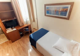 Single room at Hotel Sorolla Centro in Valencia, Spain
