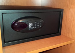 Free safe box at Hotel Sorolla Centro, Valencia, Spain